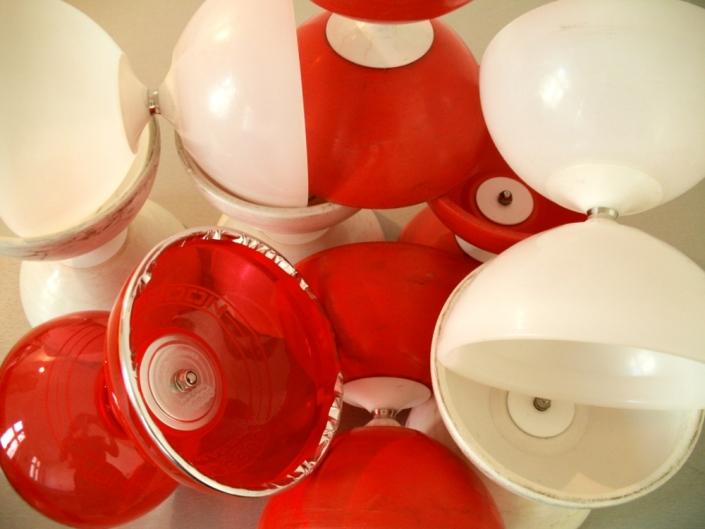Rote und weiße Diabolos