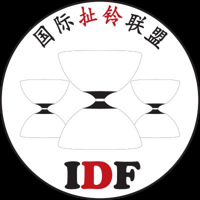 IDF Logo mit drei Diabolos und chinesischen Schriftzeichen