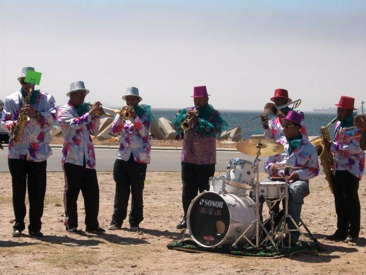 Band im Hafen von Kapstadt